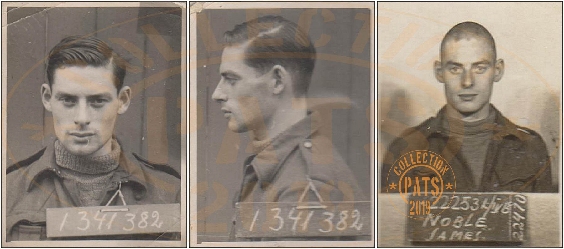ID's 1341382 - Sgt. James Noble - POW No. 222531 - Stalag IV-B - Mühlberg an der Elbe