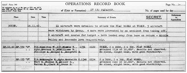 clips- Operations Record Book - 18 Nov 1942 - Turin