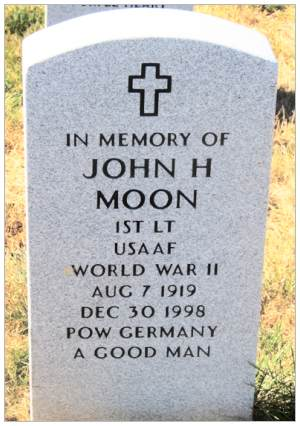 1st Lt John Henry Moon - Headstone Memorial