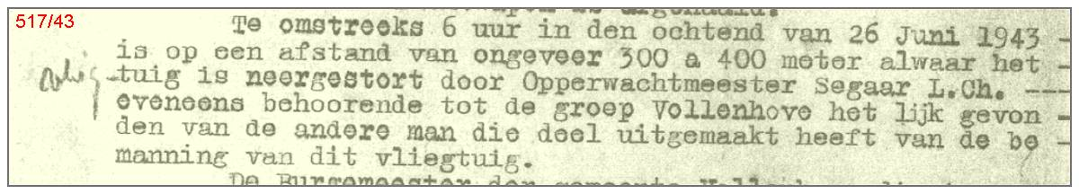 Police report No. 517 - 26 Jun 1943