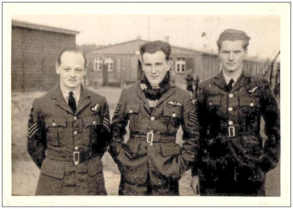 27 Dec 1942 at M-Stammlager Luft 3 - l-r: Sgt. Donaldson, Sgt. Jordan and Sgt. Barnett