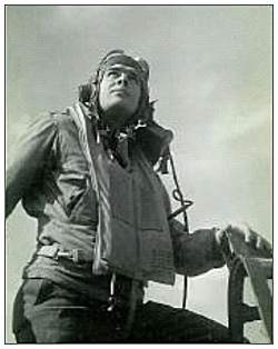 2Lt. Vernon Y. Jones at cockpit