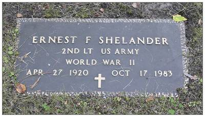 Headstone - 17026590 - O-747144 - 2nd Lt. - Navigator - Ernest F. Shelander - 1920 - 1983 by JT