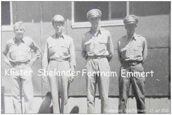 Four Officers - Klister, Shelander, Fortnam and Emmert