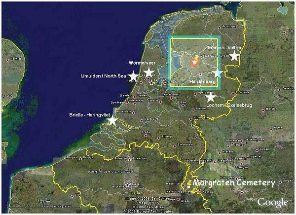 Map - The Netherlands - with 50x50mi search area around Vollenhove