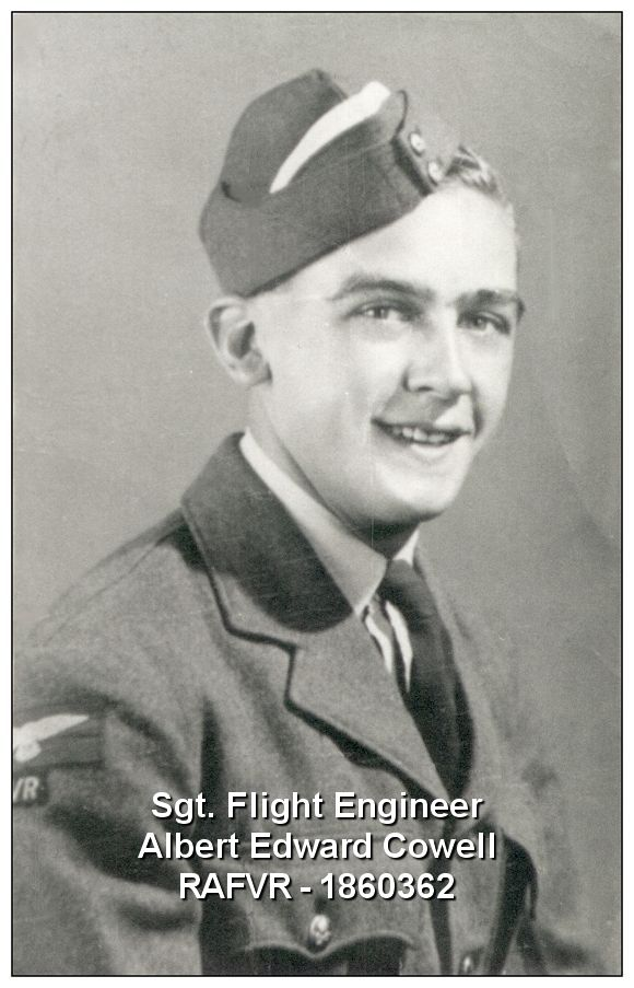 Sgt. Flight Engineer Albert Edward Cowell - RAFVR - 1860362