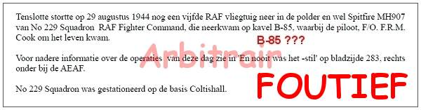 Arbitrair document - Zwanenburg - Kavelnummer arbitrair