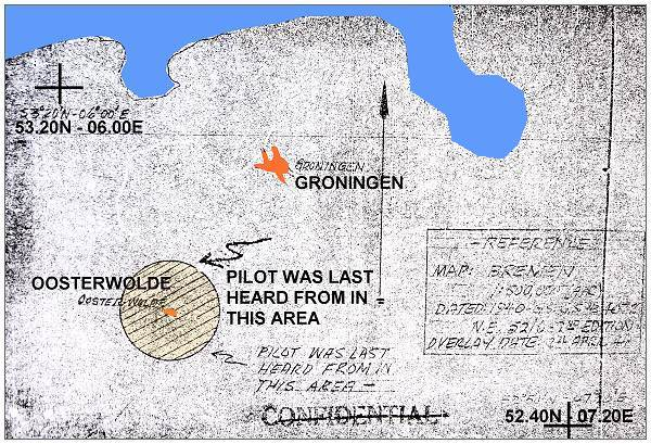 Map - Pilot was last heard from in this area