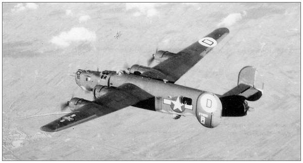 B-24 - #42-7483 in flight