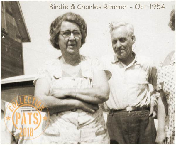 Birdie and Charles Rimmer - Oct 1954
