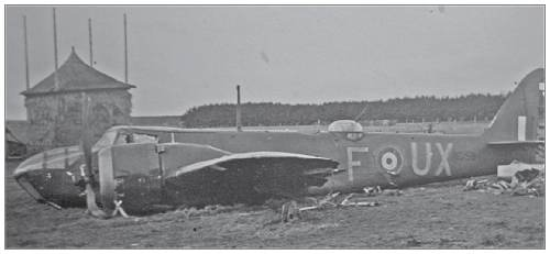 Blenheim Mk.IV - N3594 - UX-F - at crash location