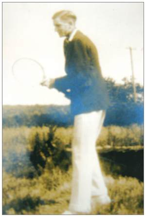 Robert Charles Blockey - with tennis racquet