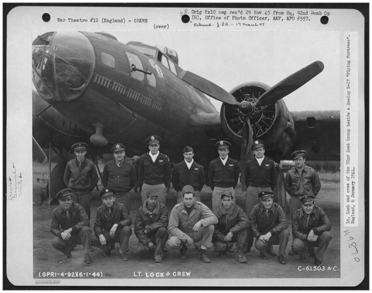 Original crew Lt. Lock - 06 Jan 1944, England