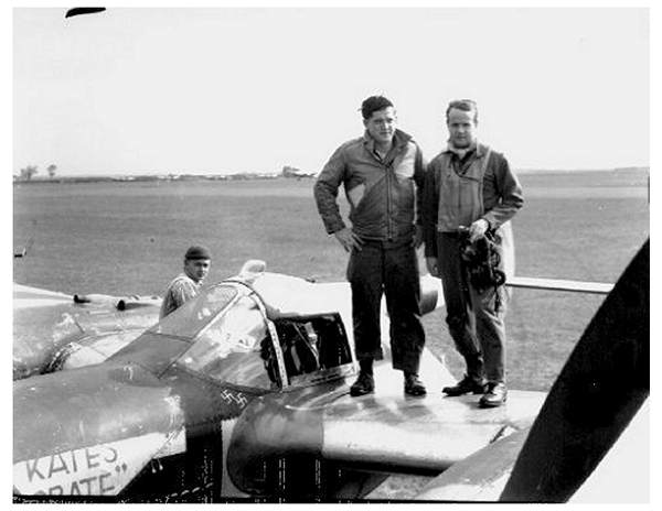 17063566 - O-730694 - Captain Terrence MacFarlane Williams - on wing of 'Kates Crate'