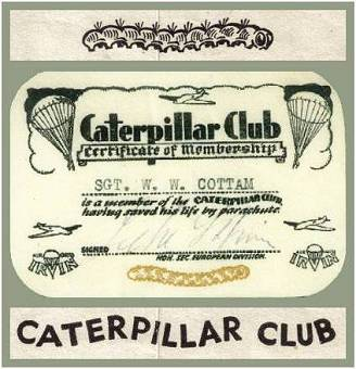 Caterpillar Club - Membership Card - 16 Apr 1945