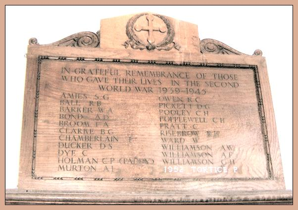 Memorial inside church - Aylsham