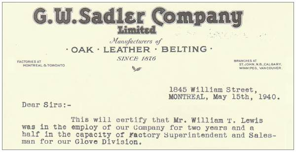 Clip - G. W. Sadler- Company Limited, Montreal - 15 May 1940
