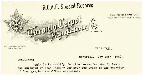 Clip - Toronto Carpet Manufacturing Co. Limited, Montreal - 15 May 1940