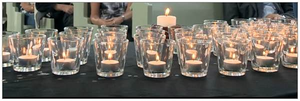 Commemoration candles - 11 Aug 2015 -