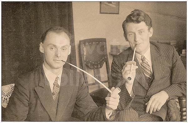 Cottam and Coyne while with the Underground in Friesland - 1944