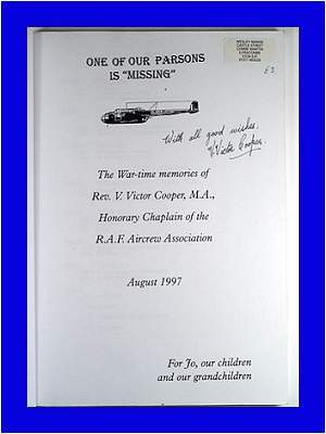 Signed - inside - book - 'One of our parsons is missing'