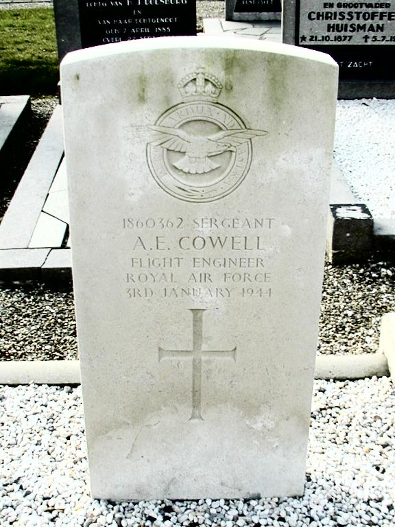 Headstone - Albert Edward Cowell - Vollenhove