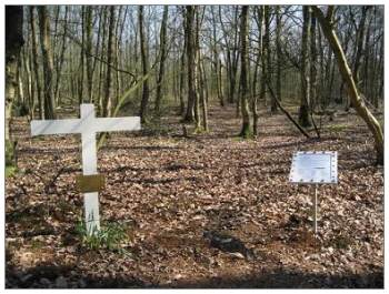 Crash site - memorial placed by Herman Redder