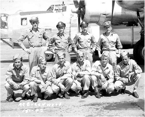 Crew R. C. Greenwood - #42 - 466th Bomb Group Crew #648