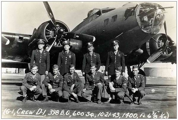Crew Nason - while with 398BG - 600BS - 21 Oct 1943