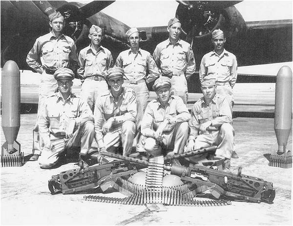 'Original' Crew Emmert - photo taken May 1943, USA - from Bob Fortnam's album