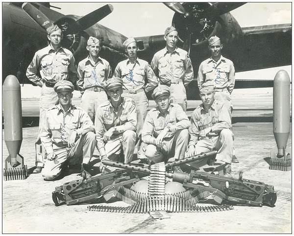 'Original' Crew Emmert - photo taken May 1943, USA - from Wally Emmert's album