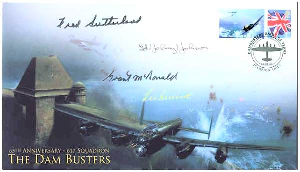 65th Anniversairy - 617 Squadron - Dambusters - signed - Fred Sutherland - 18 Sep 2008