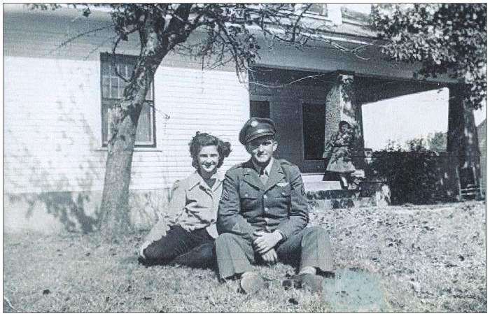 Milton with his sister Dixie - End of 1943