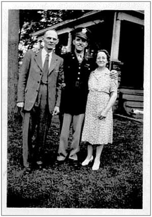 Donald Lembcke with his parents