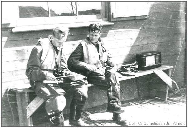 Rudi Dunger and Robert Denzel at NJG II, Leeuwarden - Summer 1942