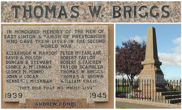 East Linton War Memorial - images courtesy Evan Clack
