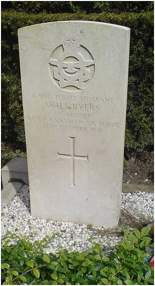 headstone - F/Sgt. William H. S. Byers - CAN - RCAF