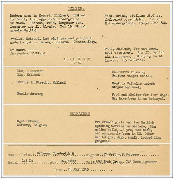 Erdmann - 21 May 1945 - clip from RAMP files - box601 - folder 4 page 204/205