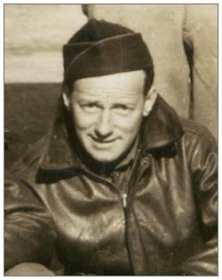 S/Sgt. Francis H. Folkner on crew photo