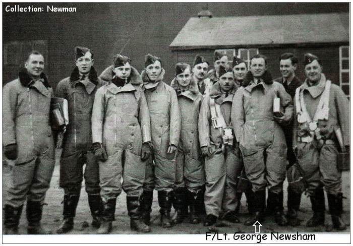 F/Lt. George Newsham with group
