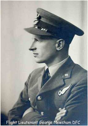 Flight Lt. George Newsham - DFC - Navigator