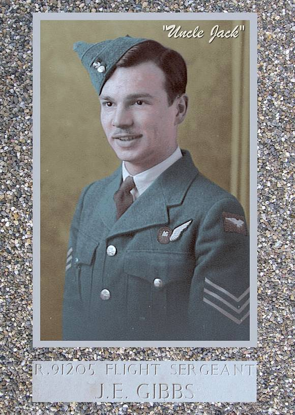 'Uncle Jack' - F/Sgt. Jack Edward Gibbs - RCAF - colour retouch by PATS