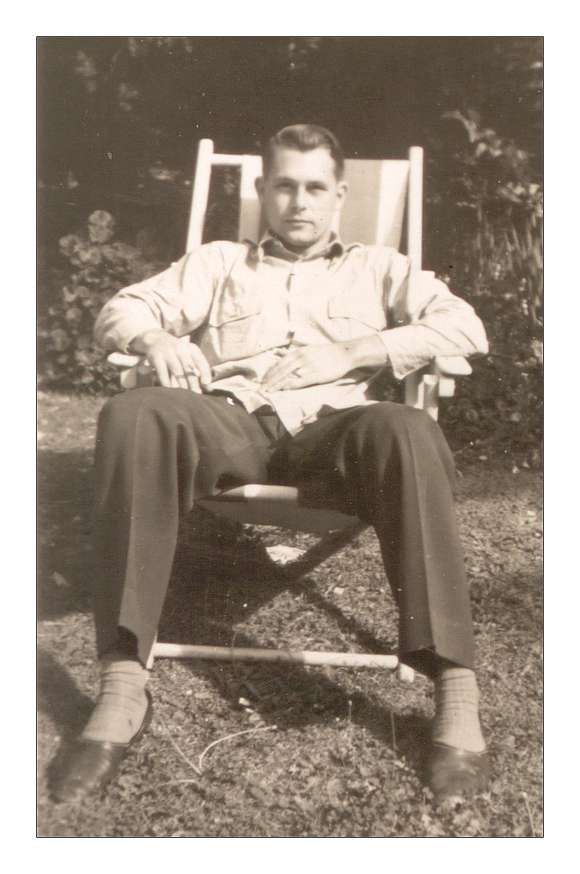 Frederick - 1942 - relaxing in the garden
