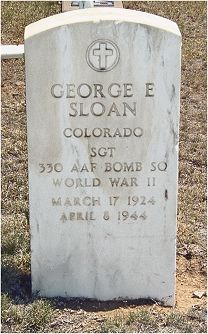 Headstone - Sgt. George Ellis Sloan - Springfield, CO, USA