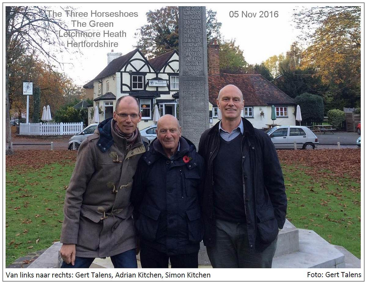 39-45 memorial in front of The Horseshoes, The Green, Letchmore Heath, Hertfordshore - 05 Nov 2016