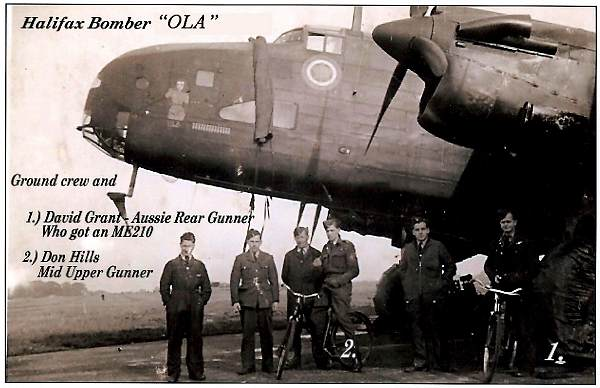 Halifax 'OLA' - Grant, Hills and Ground crew ---