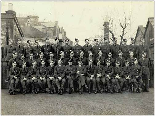 Group with Sgt. Cecil Joseph Purcell - front row - 4th from right