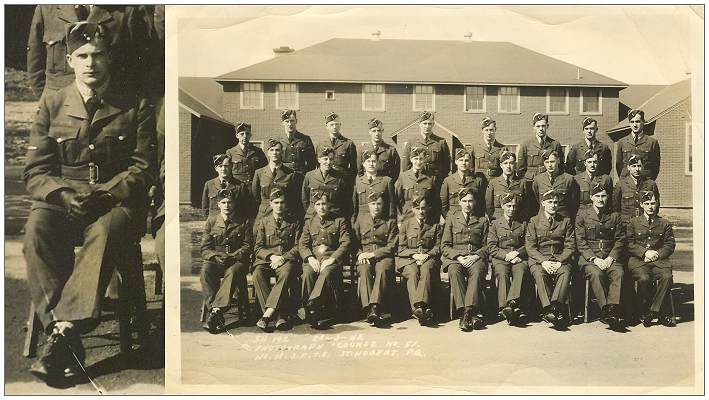 No. 13. S.F.T.S. 20 Mar 1942 - Course No. 51 with - Charles Vaillancourt - first row left