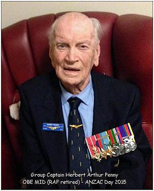 ANZAC 25 Apr 2015 - Group Captain Herbert Arthur Penny - OBE MID (RAF retired)