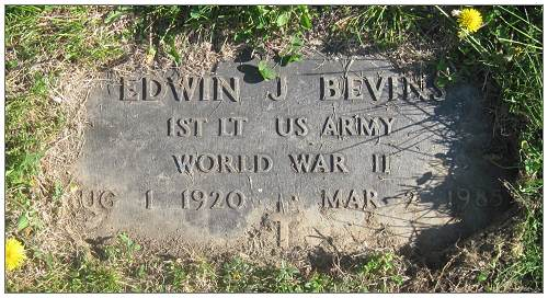 1st Lt. Edwin J. Bevins - US ARMY - WORLD WAR II